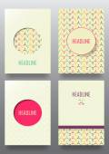 Set of brochures in Vintage style — Stock Vector