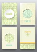 Set of brochures intage style. — Stock Vector