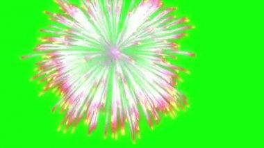 Fireworks green screen — Stock Video