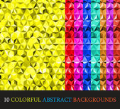 Colorful abstract geometric background with triangular polygons. — Stock Vector
