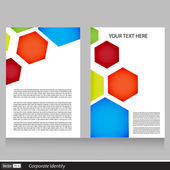 Vector creative brochure flyer template design — Stock Vector