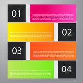 Modern iş infographic metin — Stok Vektör