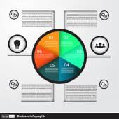Modern iş infographics daire iş için — Stok Vektör