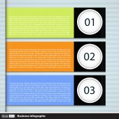 Modern business infographic with text — Stock Vector