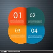 Abstract paper Infographics for business — Vector de stock