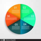 Infographic design with circles for business — Stock Vector