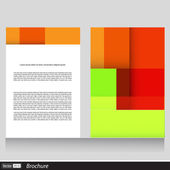 Vector business brochure with space for text — Stock Vector