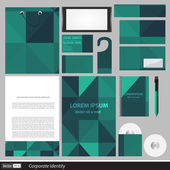 Classic stationery template design. Documentation for business. — Stockvector