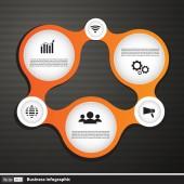 Infographic şekli vektör çizim — Stok Vektör