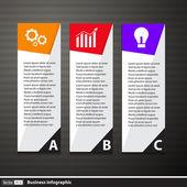 Modern infographics seçenekleri afiş. vektör çizim. — Stok Vektör