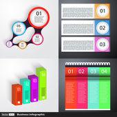 Modern iş infographics kümesi — Stok Vektör