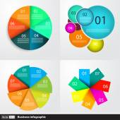 Modern business infographics set — Stock Vector