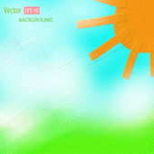 Bright watercolor background. Vector illustration — Stock Vector