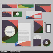 Abstract creative corporate identity triangle — Stock Vector