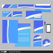 Abstract creative corporate identity  — Stock Vector