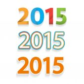 Happy new year 2015 celebration background, banner design — Stockvector