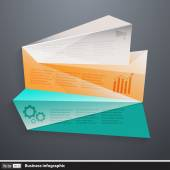 Vector modern business infographics with polygons — ストックベクタ