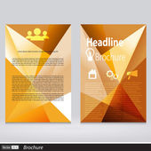 Abstract Triangle Brochure. Flyer Design Vector Template in A4 Size — 图库矢量图片