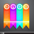Vector Business Elements Infographics Tapes. Web template - web page, website layout. — Stock Vector #58894011