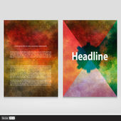 Set of corporate business stationery templates. Vector Abstract brochure design. Modern back and front flyer backgrounds.  — Stock Vector