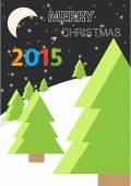 Vector poster design for Christmas holiday. Merry Christmas greeting card design A4 size — Stock Vector