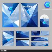 Creative corporate identity for your business. Modern idea of geometric shapes. Vector illustration. — Stock vektor