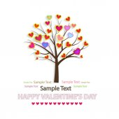 Vector illustration of a love tree. Creative background for Valentine's Day.. — Stock Vector