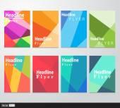 Vector set flyer. Brochure design template. Triangular geometric backgrounds. Modern idea of business. — Stock vektor