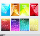 Vector set flyer. Brochure design template. Triangular geometric backgrounds. Modern idea of business. Creative colorful concept. — Stock vektor