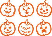 Pumpkin face — Cтоковый вектор