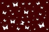 White butterflies on vinous wallpaper gradient — 图库矢量图片