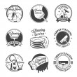 Set of vintage logos, labels and badges cleaning services — Stock Vector #69108333