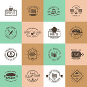 Vintage bakery badges, labels and logos — Stock Vector