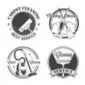 Sada vintage loga, značky a odznaky, úklidové služby — Stock vektor