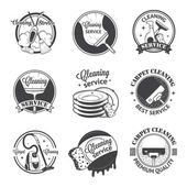 Set of vintage logos, labels and badges cleaning services — Stock Vector