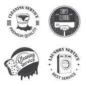 Set of vintage logos, labels and badges cleaning services — Stockvector