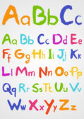 Soft Pastels Alphabet — Stock Vector