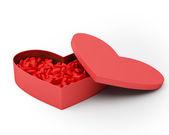 Heart Box of Valentine's Candy. — Stock Photo