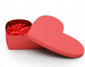 Box сердца Валентина конфеты. — Стоковое фото