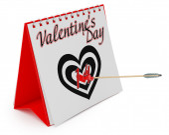 Calendar Showing Valentine's Day. — Foto de Stock