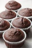 Chocolate muffins, closeup — Foto de Stock