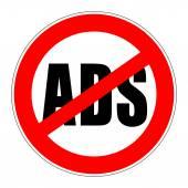 Prohibition sign no ads — Стоковое фото