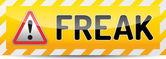 FREAK - Factoring RSA Export Keys Security attack warning banner — Stock Vector