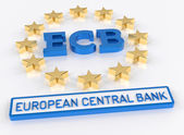 ECB European Central Bank - 3D Render — Stock Photo