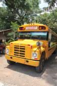 Public bus to Copan Ruinas, Honduras,  where the famous Mayan ar — Stock fotografie