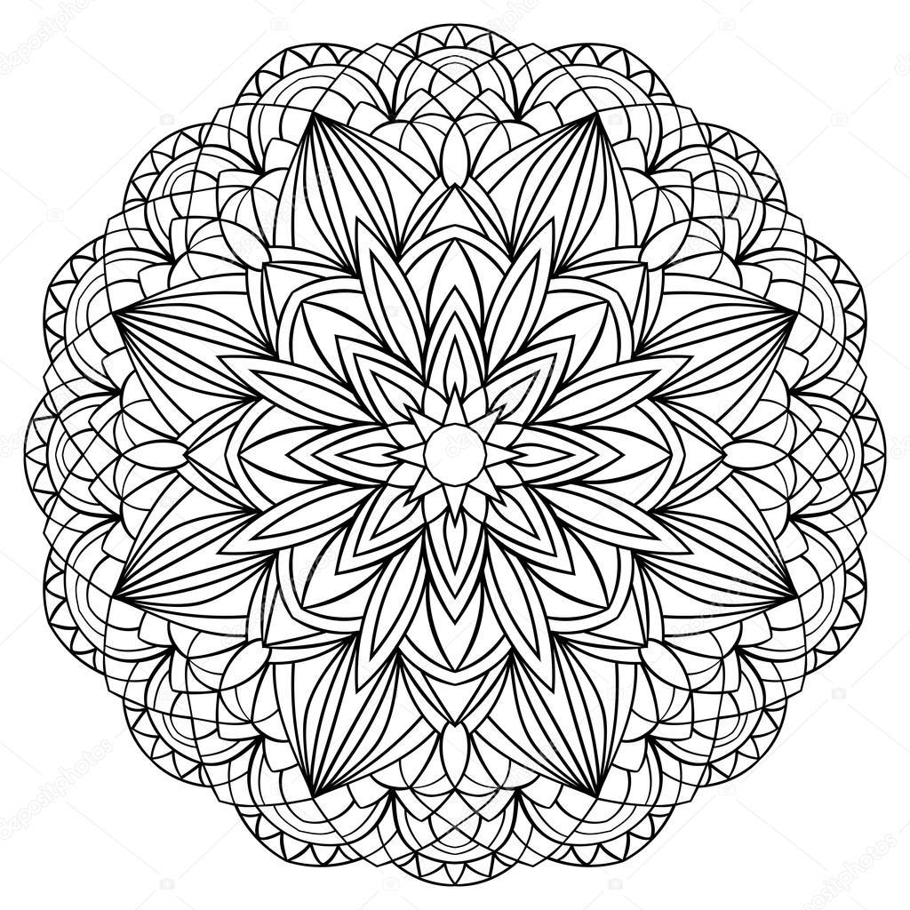 Simple mandala stock vector matorinni 67817411 for Illustration minimaliste