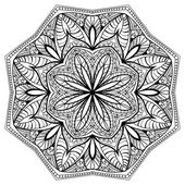 Floral mandala with intricate pattern — Stock Vector