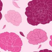 Pink vector flowers — Stock Vector