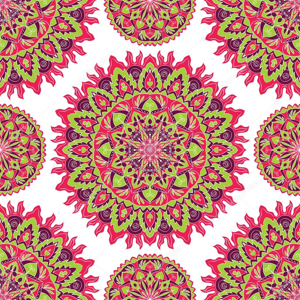 pattern of bright colorful mandala � stock vector