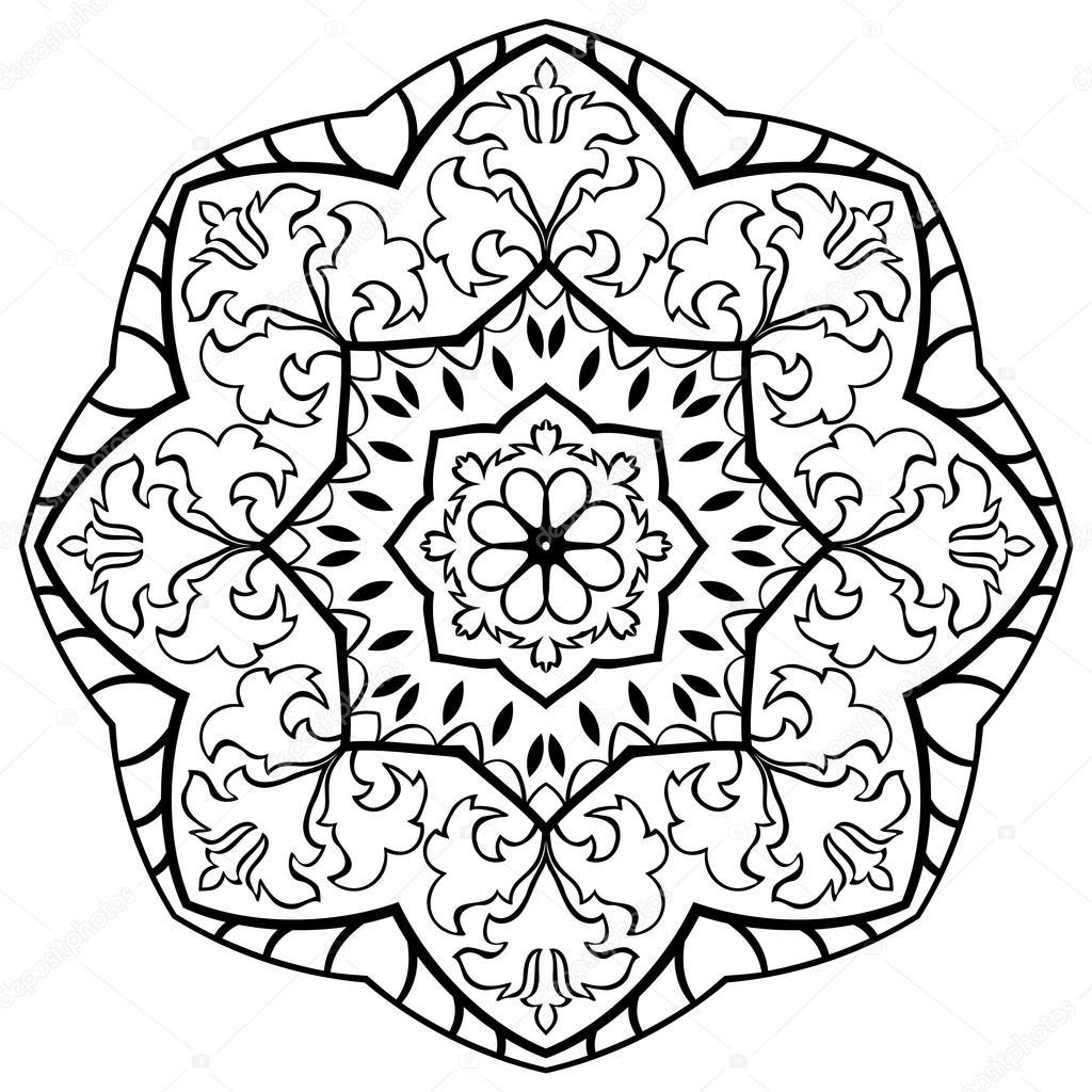 Eastern simple mandala stock vector matorinni 98935274 - Tappeto mandala ...